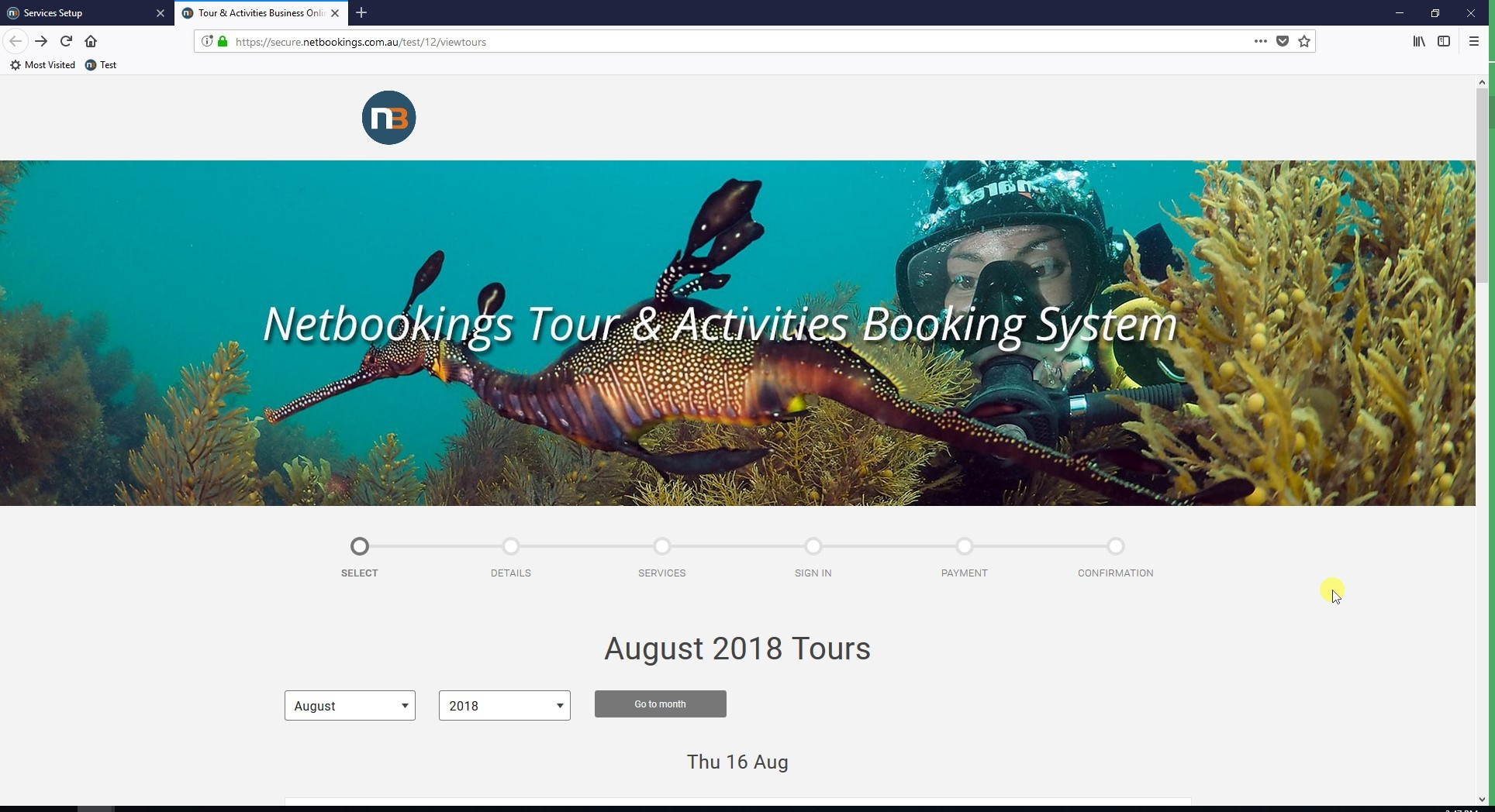 Browse to your Public Tours Screen